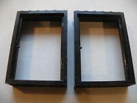 Lego 2 encadrements noirs de porte set 6088 6081 6059 6494  /2 black door frame