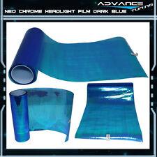 2 PC 12 x 24 Inch Headlight Neo Chrome Film Laminate - Most Popular Color
