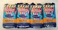 (4 Pack) Noxzema Just Right 3-Blade Disposable Razors 10 Count Each