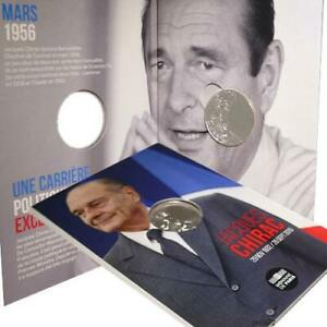 cartelette 10€ 2020 argent 10 euro président JACQUES CHIRAC 1932 2019