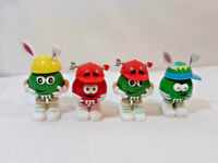Lot of 4 M&M Easter Valentines Day Dispensers Empty Cake Topper ~ Ships FREE