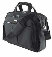 "NEW ""SYDNEY"" 16"" TL DELUXE PADDED NOTEBOOK LAPTOP CARRY TRAVEL BAG IN BLACK"