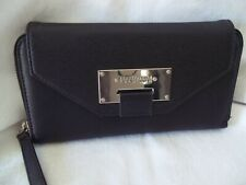 "Kenneth Cole Reaction Ladies Zipper Wallet  Black 8.5"" Long 5"" High"