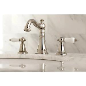 Kingston Brass  Polished Nickel 2-handle Widespread Bathroom Fauc