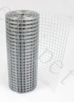 "Welded Wire Mesh 1"" x 1"" 15m or 30m Fence Aviary Hutches Run Pet Coop 3 widths"