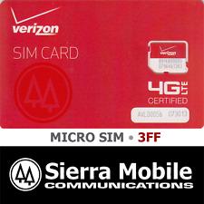 VERIZON  MICRO SIM Card 3FF • CDMA 4G LTE • OEM Genuine NEW  Prepaid or Contract