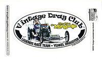 Drag Racing NHRA Sticker Decal Tom McEwen Yeakel Dragster oval