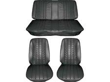 1966 Chevelle Standard Seat Upholstery Full Set, Black, Coupe