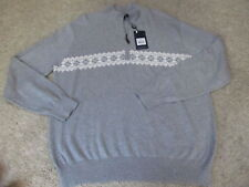 New Lincs David Chu LS 1/2 Zip Golf Sweater Men Large $138