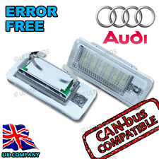 18 LED Audi A4 B7 B6 RS4 S4 License Number Plate Light S Line 2001 - 2008 WHITE