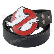 Film Ghostbusters LOGO Removable Metal Buckle Leather Belt
