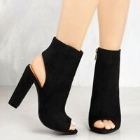 Fashion Women High Block Heel Sandals Ladies Shoes Platform Open Toe Ankle Boots