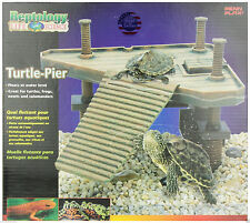 Penn Plax Decorative Turtle Pier Floating/Basking Platform Island Dock NeW small