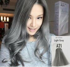 1 Box BERINA Permanent Hair Color Dye Cream Developer Light Gray Color A21