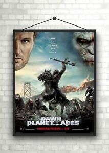 Dawn Of The Planet Of The Apes Classic Movie Poster Print A0 A1 A2 A3 A4 Maxi