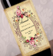 Will you be my Bridesmaid/maid of honour? Wine bottle stickers, labels