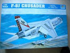 TRUMPETER- 1/32- #02273  -F-8J CRUSADER
