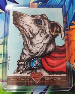 """2012 DC Superman: The Legend Trading Card Set """"Super Dog"""" Davie Hunter"""