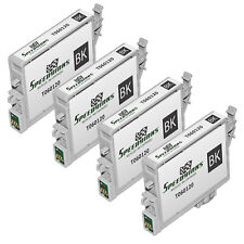 4 Pk Reman Replacement for Epson T060120 (T0601) Blk Pigment Based Ink Cartridge