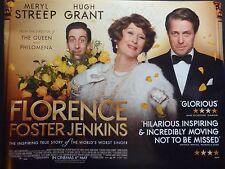 FLORENCE FOSTER JENKINS ORIGINAL 2015 CINEMA QUAD MERYL STREEP HUGH GRANT