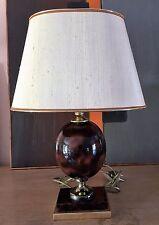 Lampe vintage dans le goût Philippe Barbier en céramique et laiton