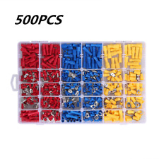 500pcs Insulated Electrical Wiring Connector Assorted Crimp Terminals Set