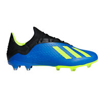 Adidas X 18.2 FG Men's Soccer Cleats DA9334 - Blue, Black, Lime (NEW) Lists@$135