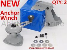 2 NEW Attwood Anchor Lift System w/ Stainless Pads Winch Mate Row Jon Boat 13710