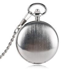 Vintage Silver Skeleton Mechanical Wind Up Pendant Pocket Watch FOB Xmas Gift