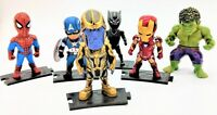 Avengers Figure Set (Iron Man, Captain America, Spiderman, Hulk, Black Panther)