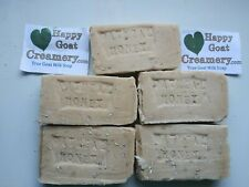 5 BARS GOAT MILK SOAP OATMEAL & HONEY UNSCENTED HAPPY GOAT CREAMERY REAL BASIC