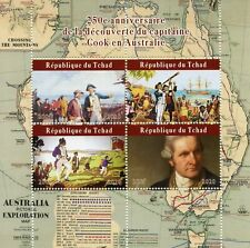 Chad Ships Stamps 2020 MNH Captain James Cook Exploration Famous People 4v M/S