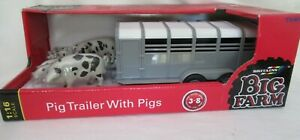 BRITAINS/TOMY BIG FARM PIG TRAILER WITH PIGS SCALE 1:16 No. 42995