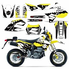 Decal Graphic Kit Suzuki DRZ400  SM E Dirt Bike Sticker w Backgrounds WRECKED