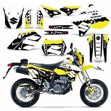 Decal Graphic Kit Suzuki DRZ400  SM E Dirt Bike Sticker w Backgrounds WRECKED