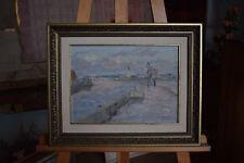 Russian oil cardboard Impressionism Paris Landscape Demidov Alexander п-12