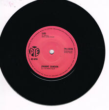 JOHNNY SANDON - LIES b/w REMO 4 - PETER GUNN (British Rock 'n' Beat) Rockabilly