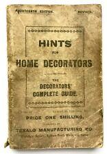 HINTS FOR HOME DECORATORS - The Decorators' Guide (Paperback) 14th Ed. Vintage