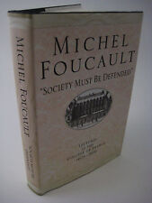 1st/1st Edition SOCIETY MUST BE DEFENDED Michel Foucault LECTURES Philosophy