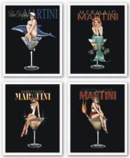 Martini Art Print Set Martini Set Ralph Burch