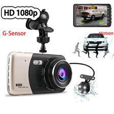 "4"" 1080P 2 Way Car Dash Camera Video DVR Cam Driving Recorder Night Vision Kit"