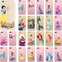 Cartoon Disney Princess Character TPU Soft Case Cover For iPhone5 5s 6/6s Plus 7