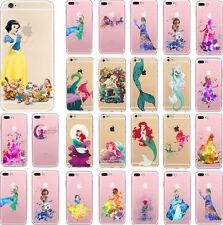 Cute Disney Cartoon Mermaid Princess Soft TPU Case Cover For iPhone 5 6 6Plus 7