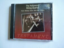 Ravel, Debussy, Villa-Lobos; The Hollywood String Quartet 1994 Testament CD NEW