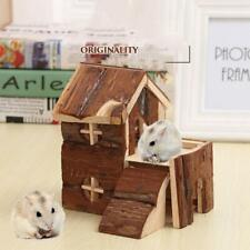 Pets 2 Storey Wooden House Waterproof Small Villa Play Cabin for Hamsters rabbit