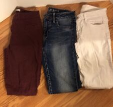 Lot of 3 Womens Jeans 2- American Eagle 1-REFUGE Super Stretch Jeggings  Size 4