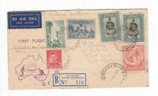 Australia 1938 Sydney - PORT MORESBY Registered Flight Cover,cds ADELAIDE SA