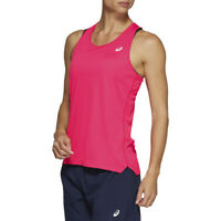 Asics Womens Silver Vest Pink Sports Running Breathable Reflective