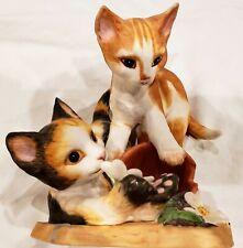 1987 Franklin Mint Fine Porcelain Shenanigans Cats Figurine