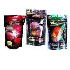 Okiko Cichlid Flowerhorn Fish Food Head Up Hunch Platinum Color 3 M Pellets 100g